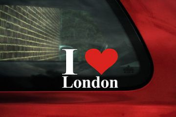 "2 x Aufkleber Sticker ""I Love (Herz) London"" Van Lastwagen"